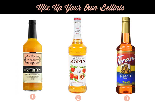Mixing up your own bellinis