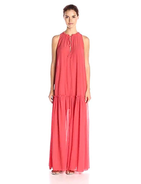 Peach Maxi Dress Halter Style