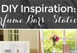 DIY Inspiration for PEfume Bars and Stations at Bridal Showers