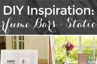 DIY Inspiration for PEfume Bars and Stations at Bridal Showers