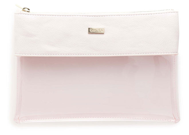 Peekaboo Clutch Bag in Pink Leatherette by ban.do.