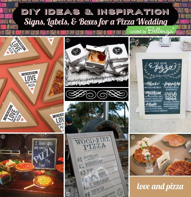 Pizza Station Signs and Take-out Packaging