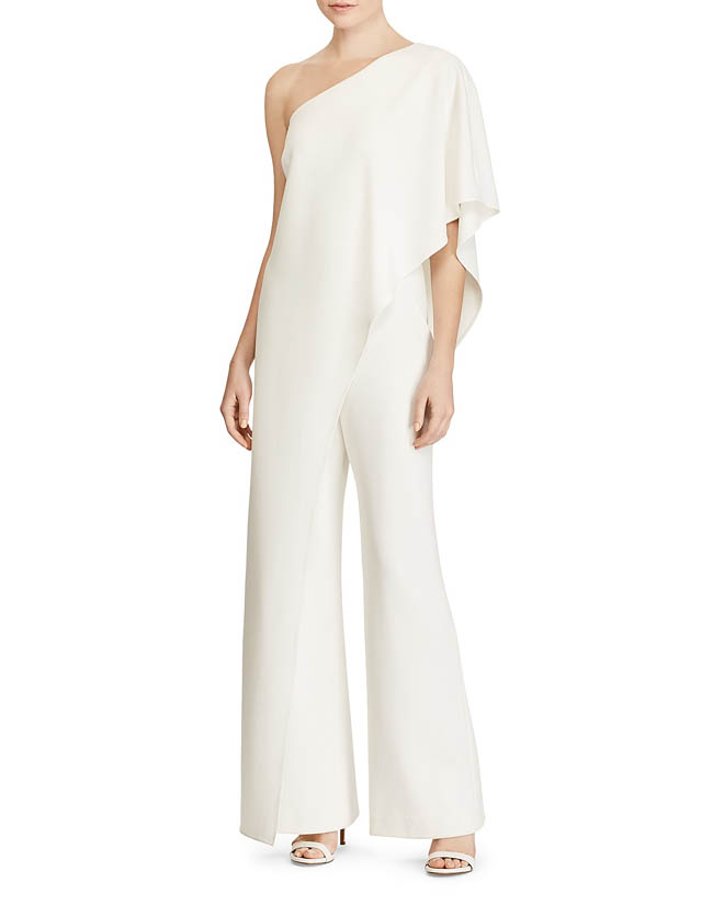 Ralph Lauren Ruffle One-shoulder Jumpsuit