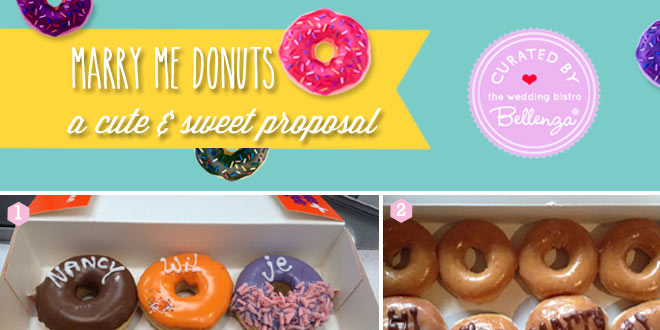 """Marry Me"" with Message Donuts"