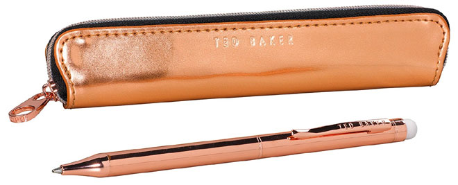 Ted Baker Rose Gold Ballpoint Pen and Stylus