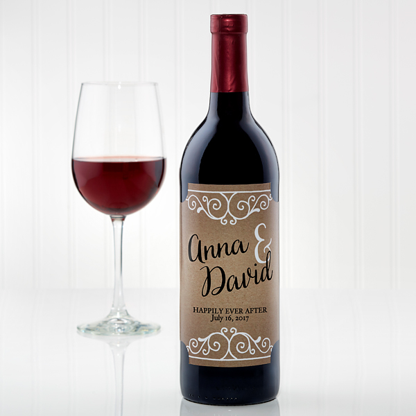 Rustic wine label via Personalization Mall.