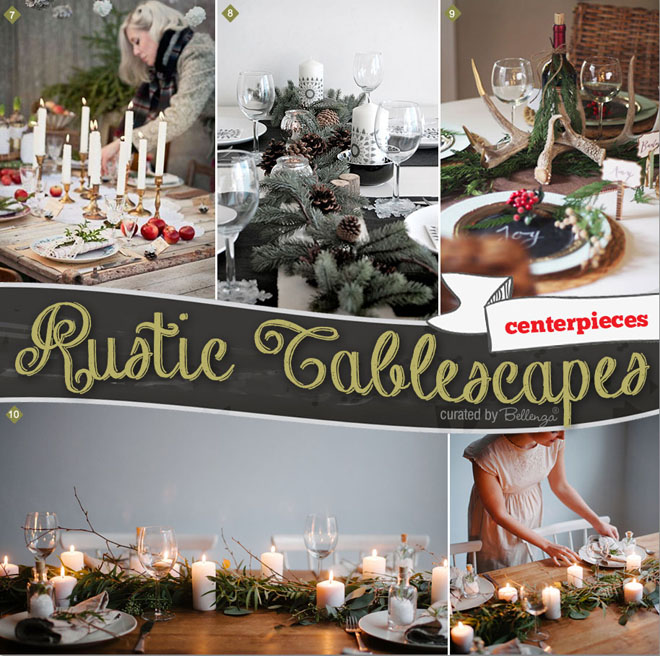 Rustic Tablescapes For Rehearsal Dinners In The Winter.