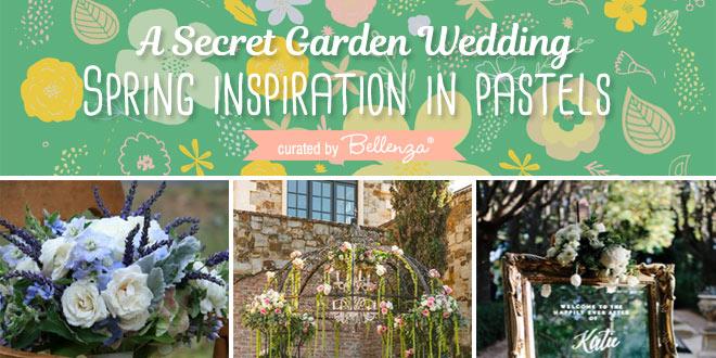 Secret garden themed spring wedidng