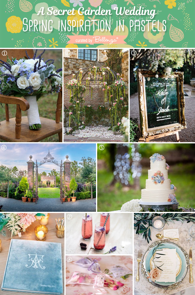 Inspiration from The Secret Garden for a Romantic Spring Wedding