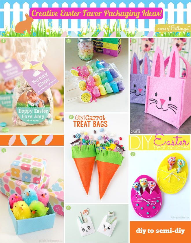 Semi diy to diy Easter favor packaging from carrot bags to bunny ear treat bags