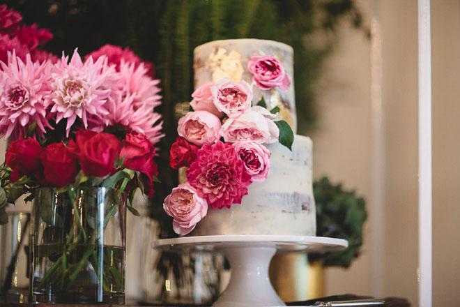 Semi-naked Wedding Cake by CherryTree Bakehouse