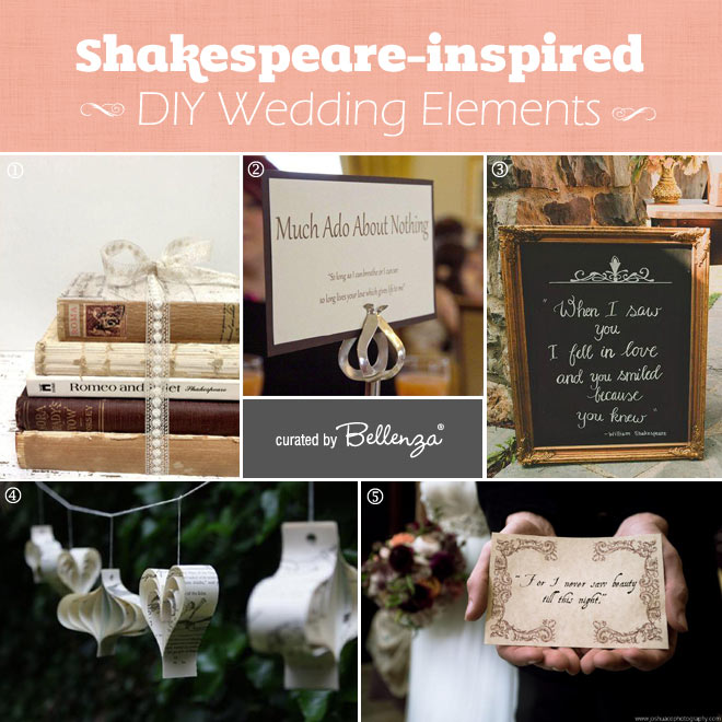 Shakespeare Themed DIY Wedding Elements