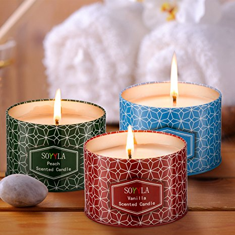 6 - candle tins