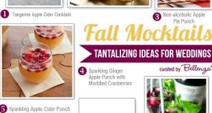 Fall Mocktail Ideas for Wedding Signature Drinks