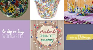12 Handmade gift ideas using flowers for a spring wedding for the home