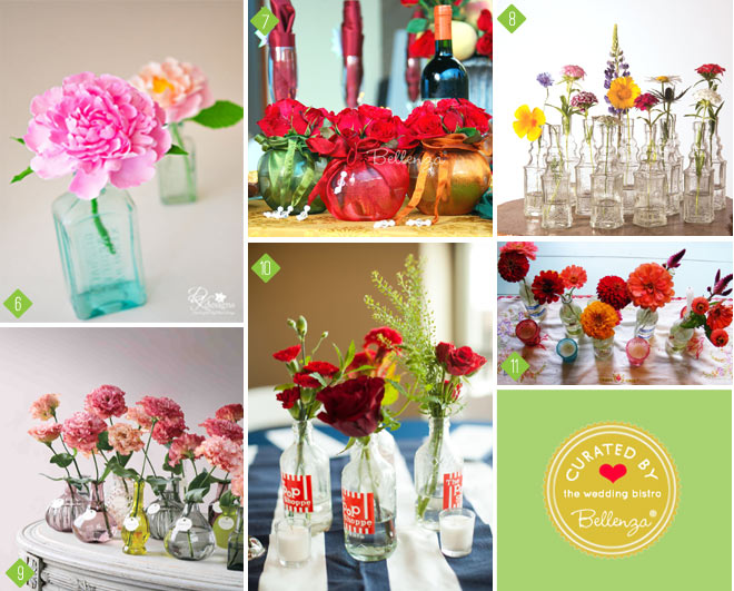 Tips for Presenting Pretty Flower Favors From Bottles to Vases