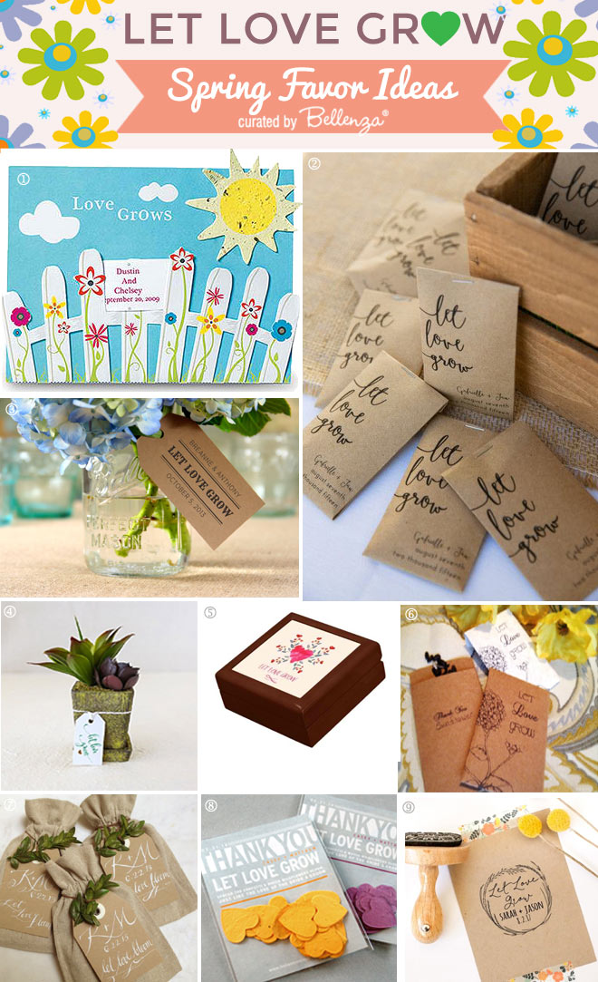 Spring Wedding Favor Ideas with a Let Love Grow Theme