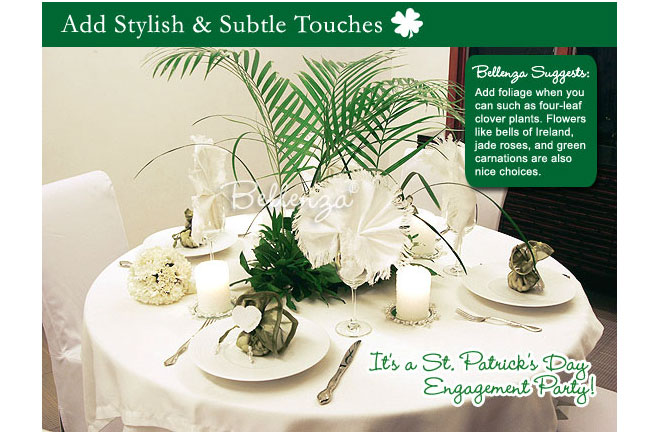 St. Patrick' Day Tablesetting