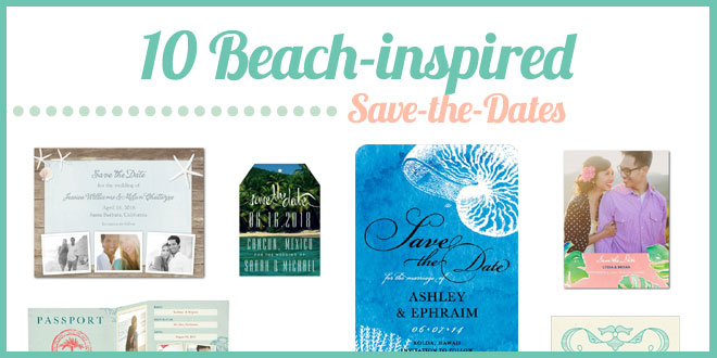 10 Beach-inspired Save-the-Dates Curated by Bellenza.