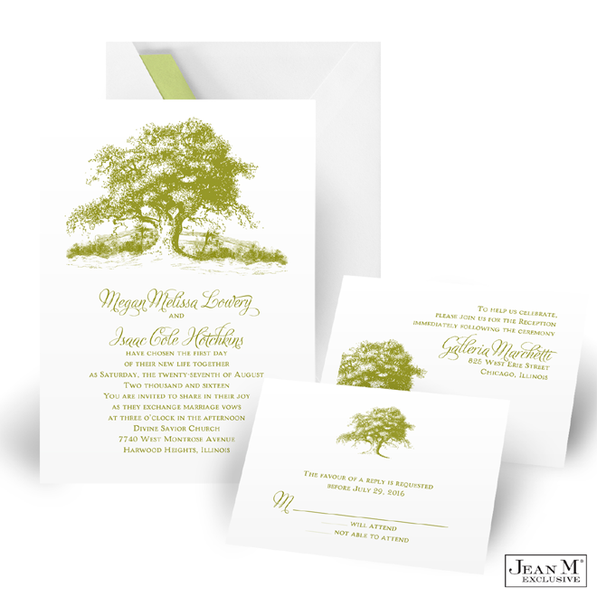 Rustic Tree Wedding Invitation Kit