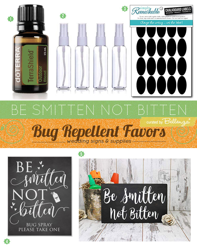 Supplies for making your own bug spray favors