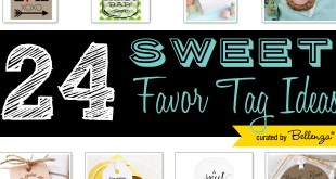 Sweet Wedding Favor Tags with the Loveliest Sayings