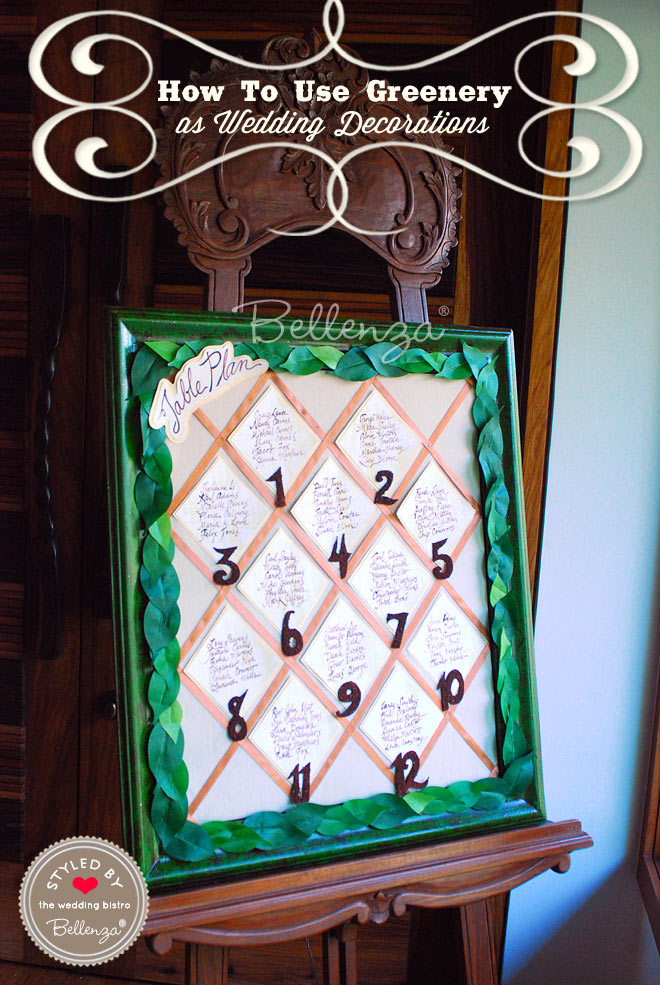 Frame your seating chart in a border of leaves.