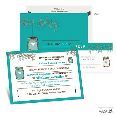 Jar Lantern Wedding Invitation