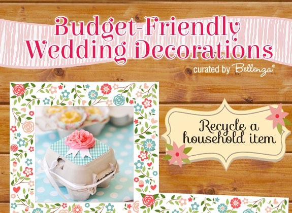 Upcycled decorations for spring diy weddings