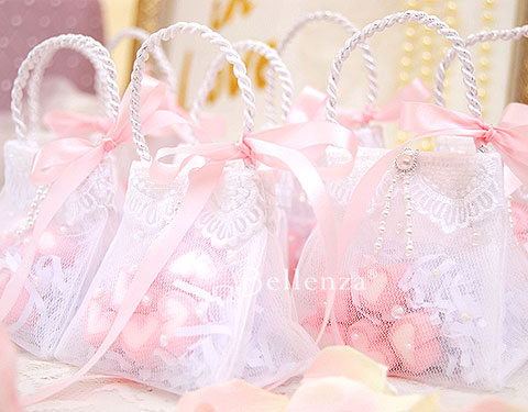 Petite purses for a French Parisian bridal shower