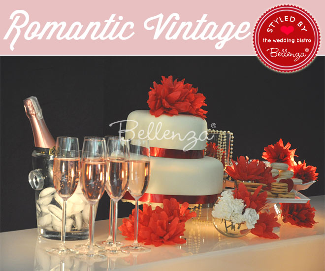 Valentine's Dessert Table in Red and Black