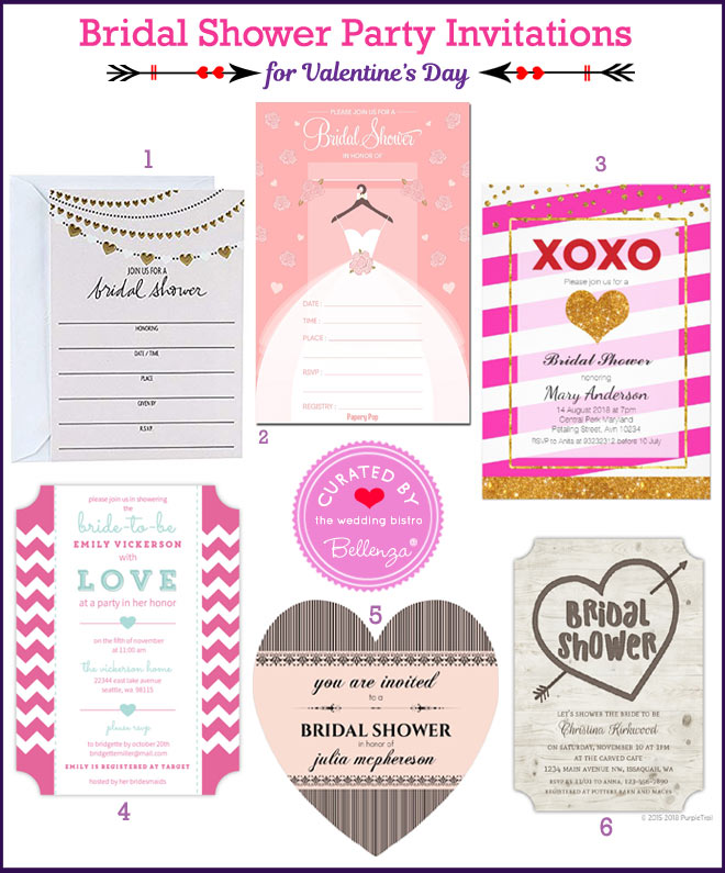 Valentine's Bridal Shower Invitations