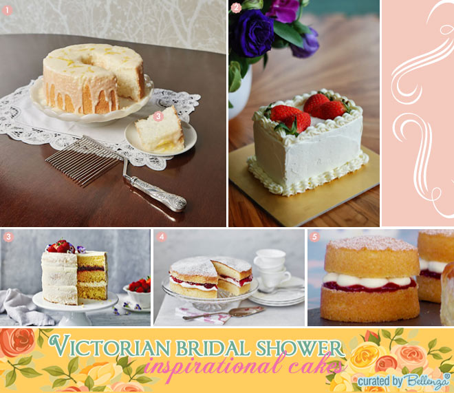 victorian bridal shower cak