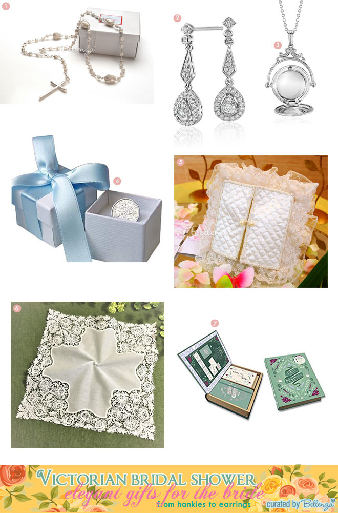 vintage inspired gifts for the bride for a victorian bridal shower