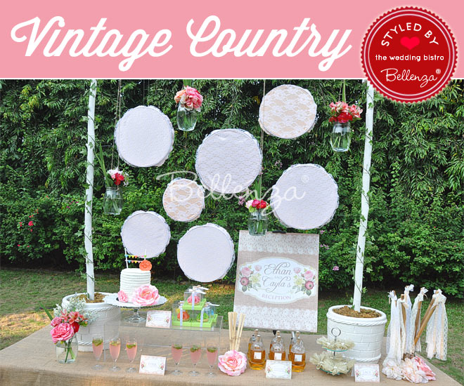 Vintage Country Dessert and Sweets Table