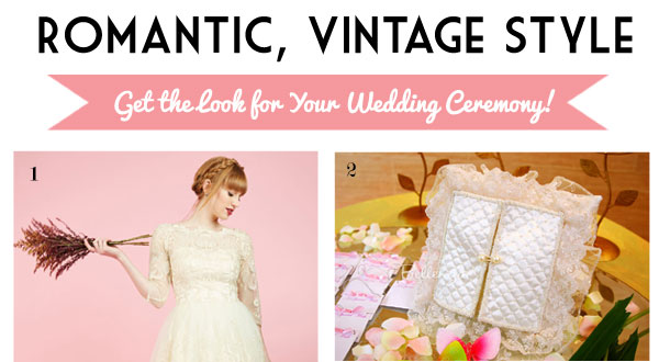 Vintage look for your ceremony. Styling your look by Bellenza.