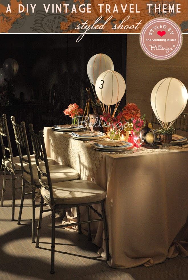 Table Settings with Floating Hot Air Balloons