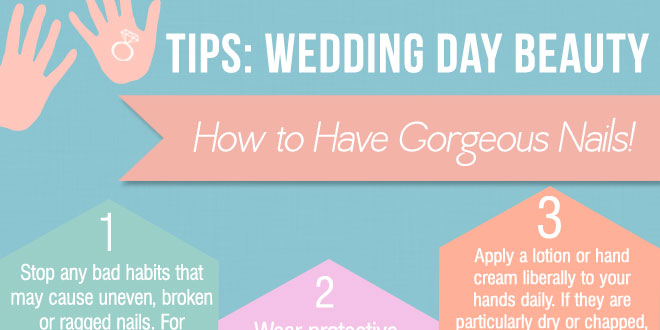 How to have gorgeous wedding nails by Bellenza.