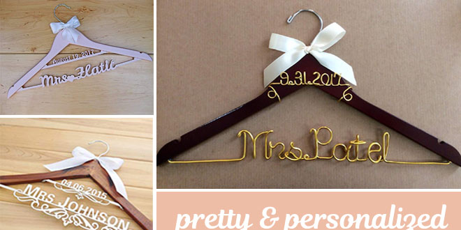 Personalized Wedding Hangers as Gifts