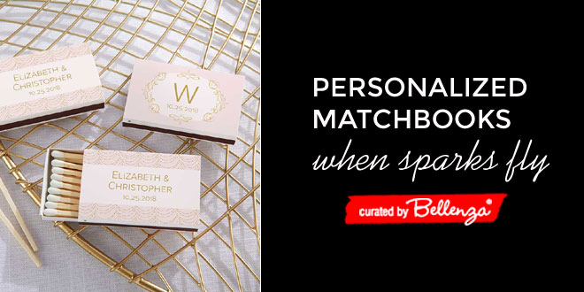 Wedding Matchbook Ideas with Personalization and Color Options