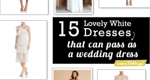 15 White Cocktail Dresses that Could Pass as a Wedding Dress