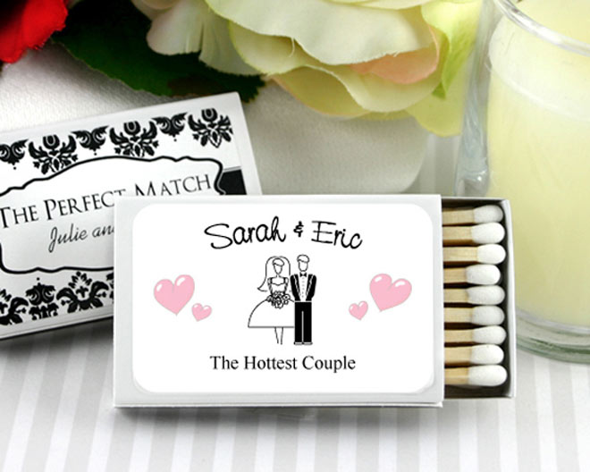 White matchbooks via myweddingfavors