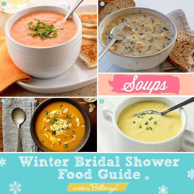 Winter Soups for a Bridal Shower
