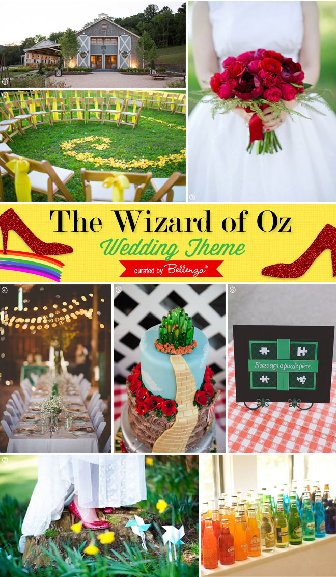 A Summer Wizard of Oz Wedding Theme! Toto, I've a feeling we're not in Kansas anymore.