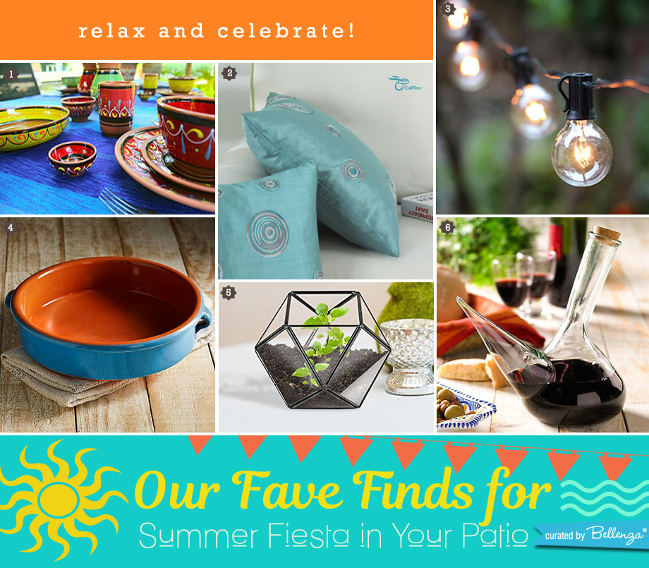 Fiesta summer picks from terracotta dinnerware to terrariums to bulb string lights.