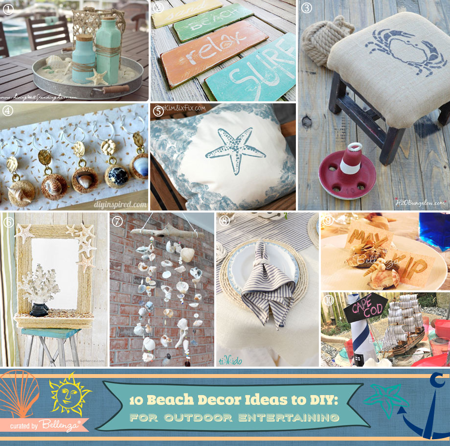 Beach-inspired Decorating Projects to DIY!