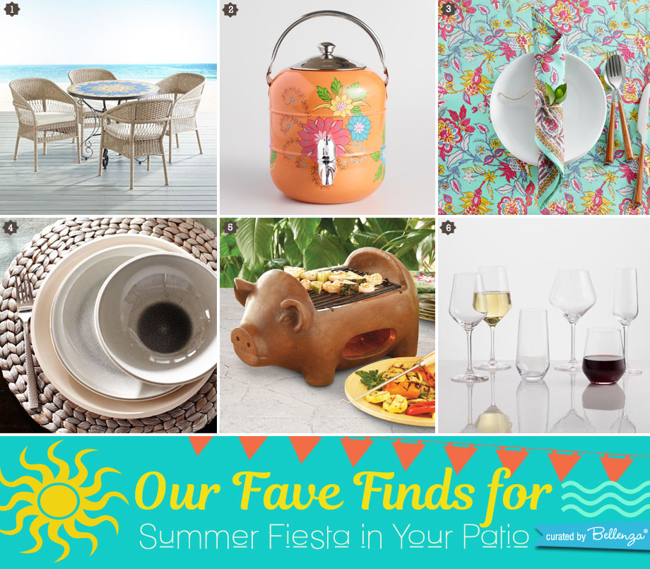 Summer fiesta product finds from a patio dining set to wine glasses!