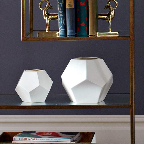 Faceted Table Vase by Dwell Studio