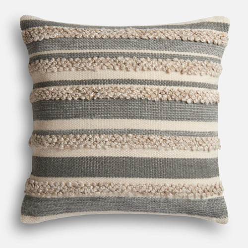 Zander Gray and Ivory Oversized Pillow, from the Magnolia Home Collection by Joanna Gaines