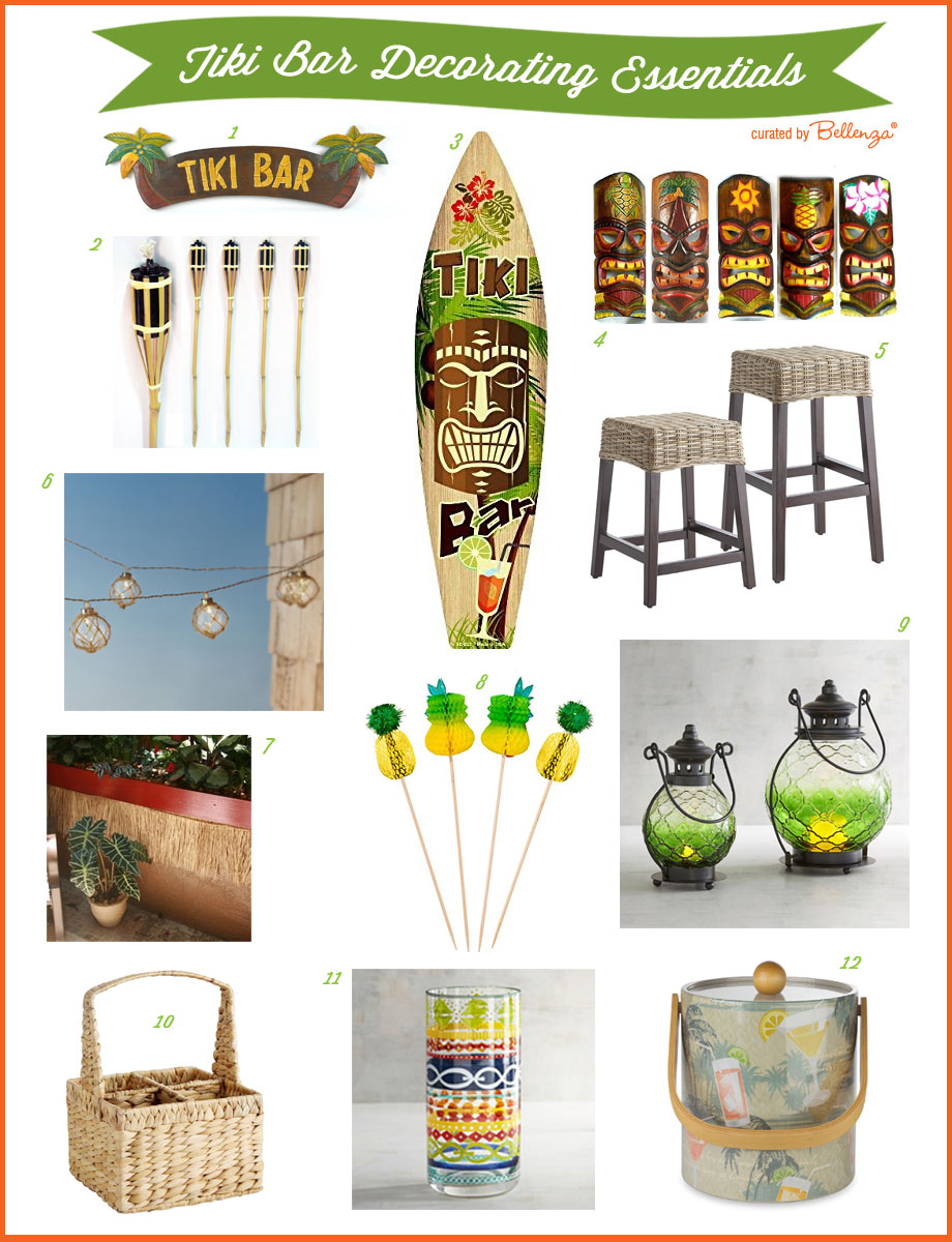 Tiki Bar Decor Essenilals // Curated by Bellenza.